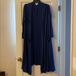 LuLaRoe Sarah Cardigan. Navy and Green